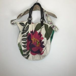 anthropolgie nest floral canvas paint bag